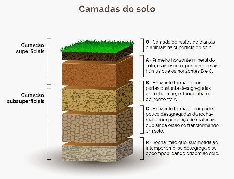 tipos de solo - camadas do solo
