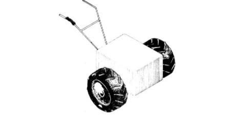 Esquema de um trator de duas rodas