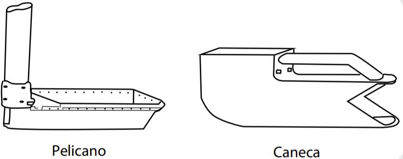 amostragem de grãos - canecos coletores
