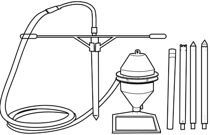 amostragem de grãos - sonda pneumática